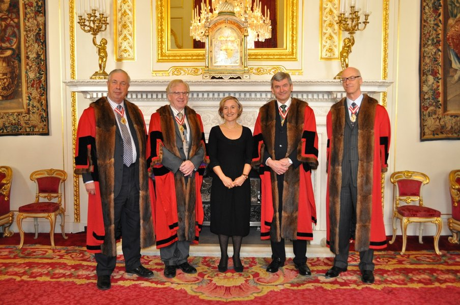 Freedom Ceremony with the Court of Wardens, and new freeman Amanda Stucklin, 2012