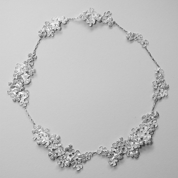 Freckled Blooms necklace by Rebecca Burt