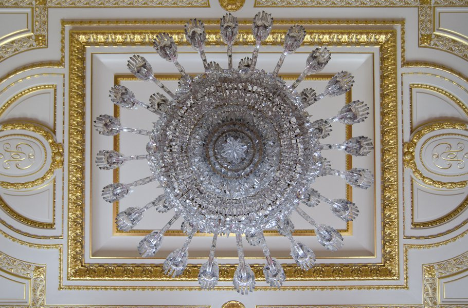The ceiling in the Drawing Room
