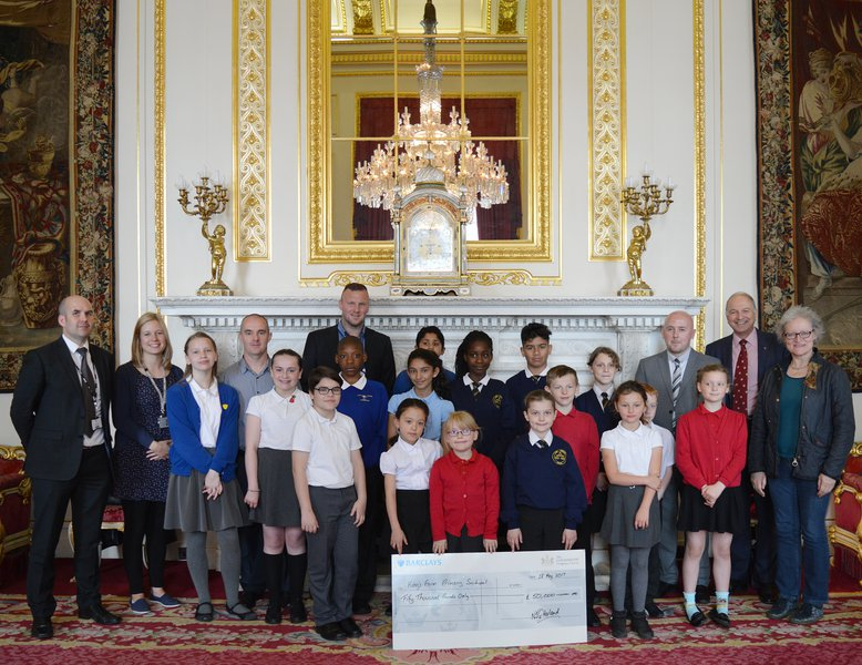 Teachers and Pupils with the Goldsmiths' Company Deputy Clerk Nick Harland