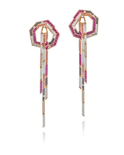 Tomasz Donocik, 'The Dune Stellar' Detachable Earrings.  Image courtesy of GCDC, Photography by Richard Valencia