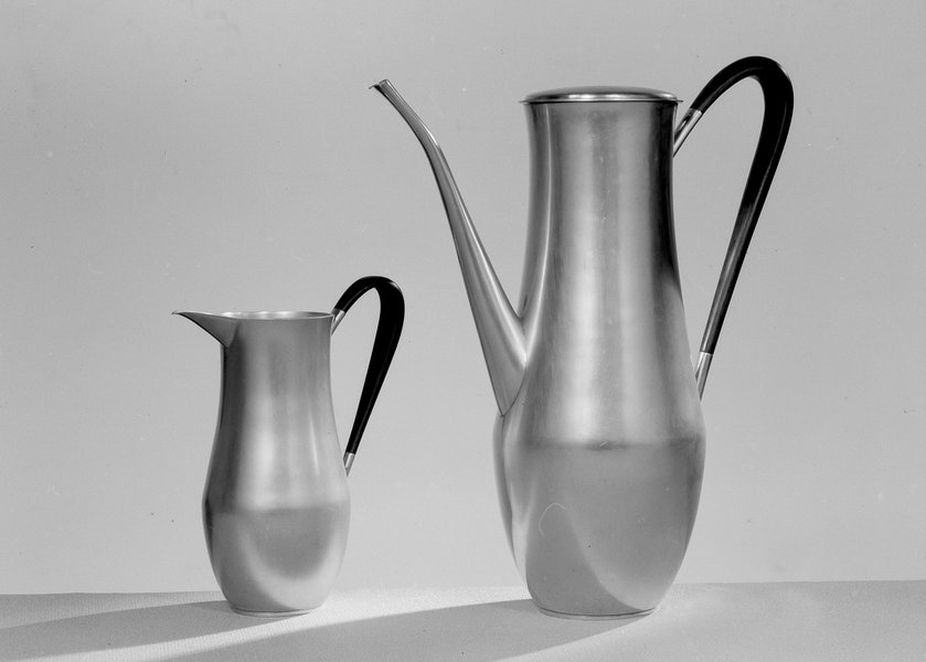 Coffee pot and jug, designed by David Mellor, 1951