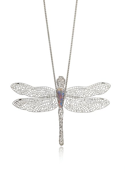 Matthew Powell, Platinum Dragonfly Pendant, Crown Jewellers Ltd. Image courtesy of GCDC, Photography by Richard Valencia