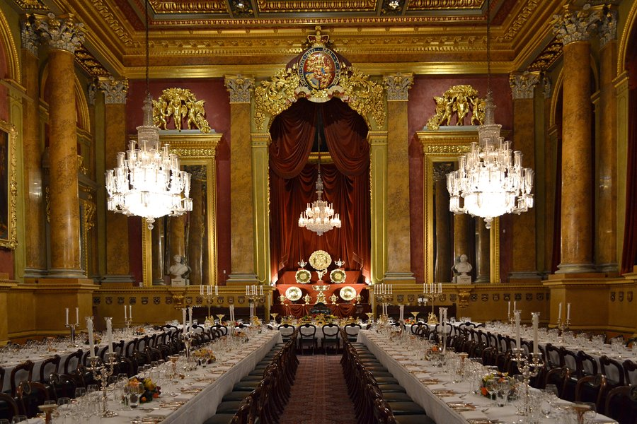 A livery dinner at Goldsmiths' Hall