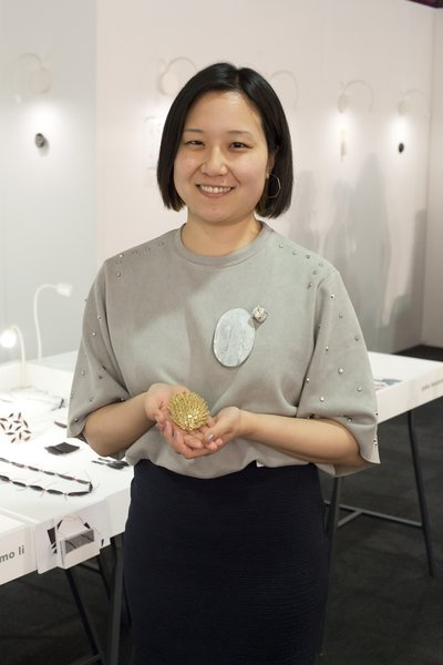 Miki Asai, winner of the 2017 New Designers Goldsmiths' Company Jewellery Award.Photography by thedpc.com