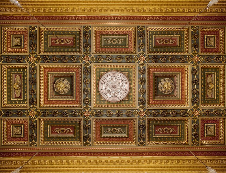 The ceiling of the Livery Hall
