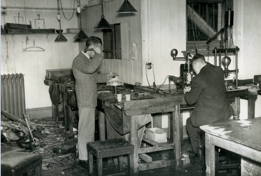 The Assay Office, relocated in Reigate during the Second World War.