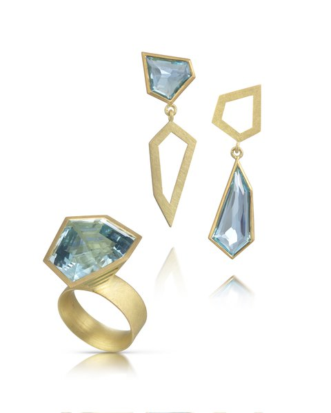 Mark Nuell, Freeform Aquamarine Set