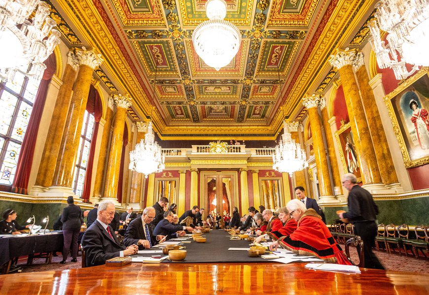 Trial of the Pyx 2019 at Goldsmiths' Hall. Image: © The Goldsmiths' Company. Photograph: Richard Lea-Hair