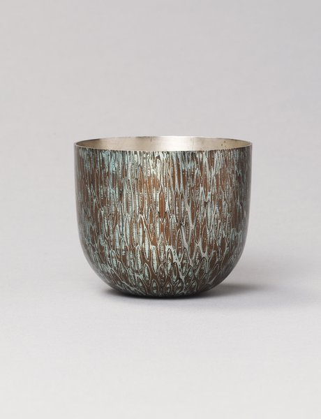 Beaker, c.2006 by Alastair McCallum (b. 1953), Silver, copper and mokumé gané. Private Collection