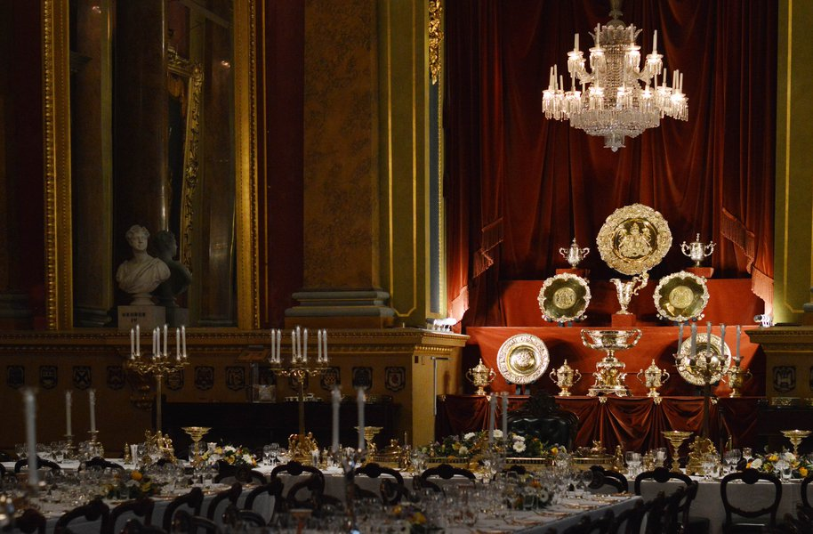 The Goldsmiths' Company Buffet Plate used during a Livery Dinner