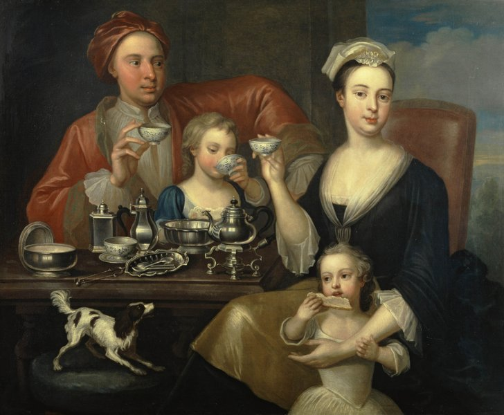 The Tea Party, attributed to Richard Collins (d. 1732)