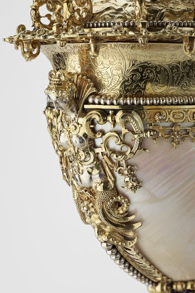 Nautilus cup and cover (detail), Nikolaus Schmidt, c.1550/5–1609 Image: Royal Collection Trust/ © Her Majesty Queen Elizabeth II 2017.