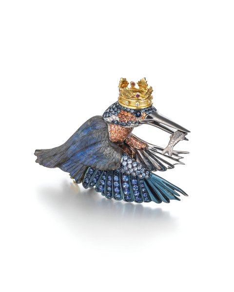 Bradley Humphreys, Kingfisher Brooch, Theo Fennell Ltd. Image courtesy of GCDC, Photography by Richard Valencia