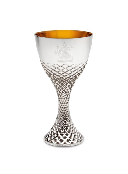 Sterling silver wine goblet commissioned by the Goldsmiths Company