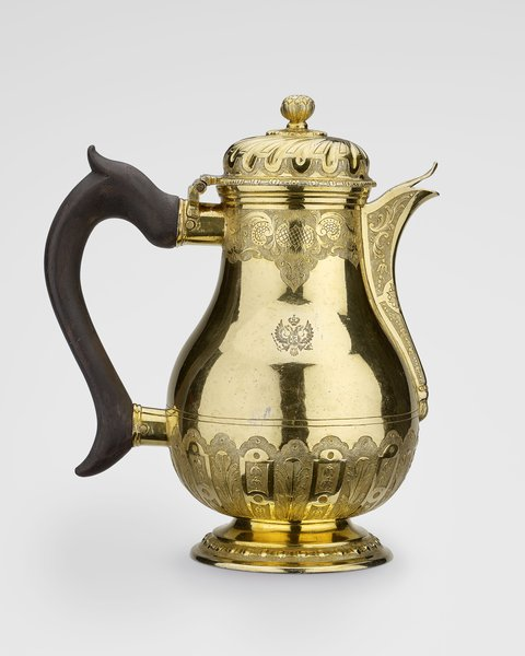 Coffee pot belonging to Catherine II of Russia, Johann Frederick Köpping,1780 Image: Royal Collection Trust/ © Her Majesty Queen Elizabeth II 2017.