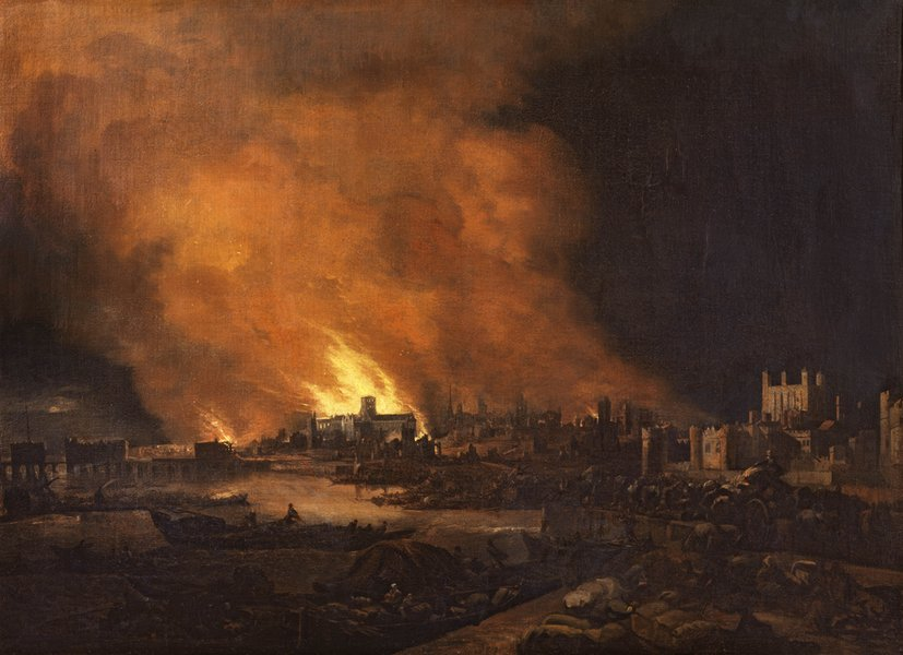 The Fire of London 1666, by an unknown Dutch Artist