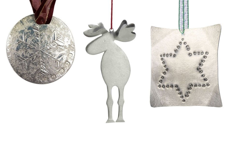 Snowflake coin by Miriam Hanid; Moose by Wayne Meeten; Starpunched by Caroline Lytton
